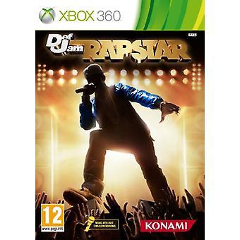Defjam Rapstar-alleen spel (Xbox 360)-in de fabriek verzegeld