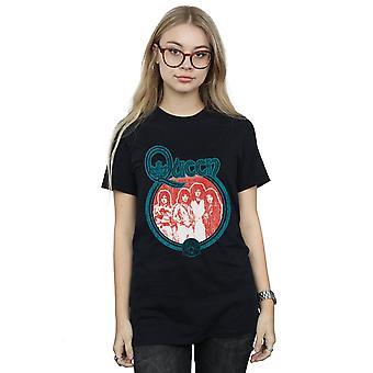 Queen Women's Vintage Band Photo Boyfriend Fit T-Shirt