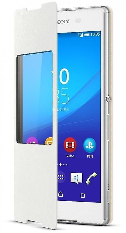 Sony SCR30 cover flip Folio for Xperia Z3 + window in white