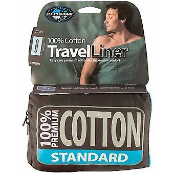 Sea to Summit Premium Cotton Travel Liner - Standard - Navy Blue