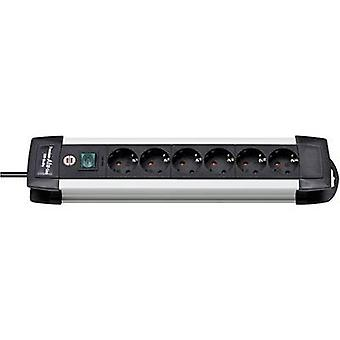 Brennenstuhl 1391000016 Socket strip (+ switch) 6x Black, Aluminium PG connector 1 pc(s)