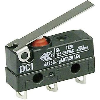 ZF Microswitch DC1C-A1LC 250 V AC 6 A 1 x On/(On) IP67 momentary 1 pc(s)