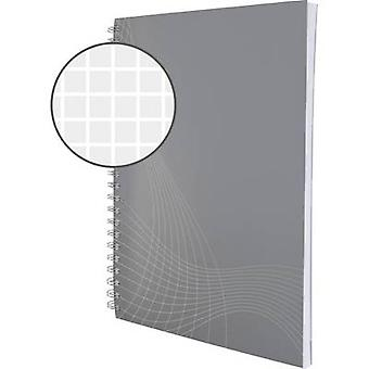 Avery-Zweckform notizio 7011 دفتر الملاحظات مربع رمادي فاتح رقم. من الأوراق: 80 A5