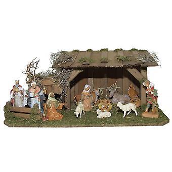 Crib Nativity Christmas Nativity stable Paul wood crib