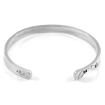 Anchor & Crew Russell Compass Cutout Wayfarer Silver Bangle
