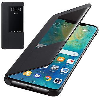 מקורית Huawei Mate 20 Pro חכם צפה הכיסוי ארנק עם שינה התכונה התעוררות-שחור-51992696