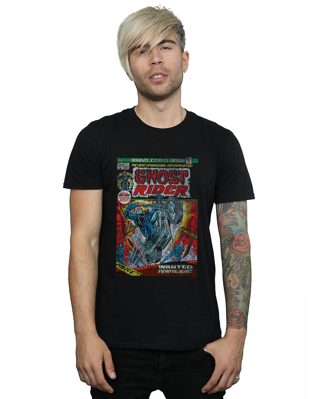 Marvel Men's Ghost Rider Distressed Comic Cover T-Shirt
