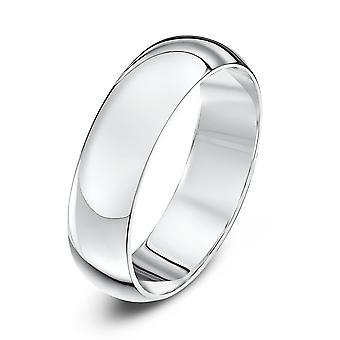 Anneaux de mariage Star 9ct or blanc Heavy D forme 5mm bague de mariage
