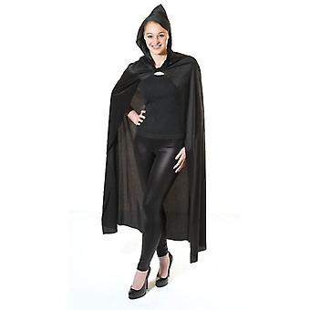 Bnov lange zwarte Hooded Cape