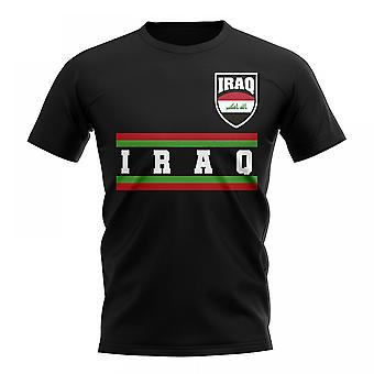 Irak-Kern-Fußball-Land-T-Shirt (schwarz)