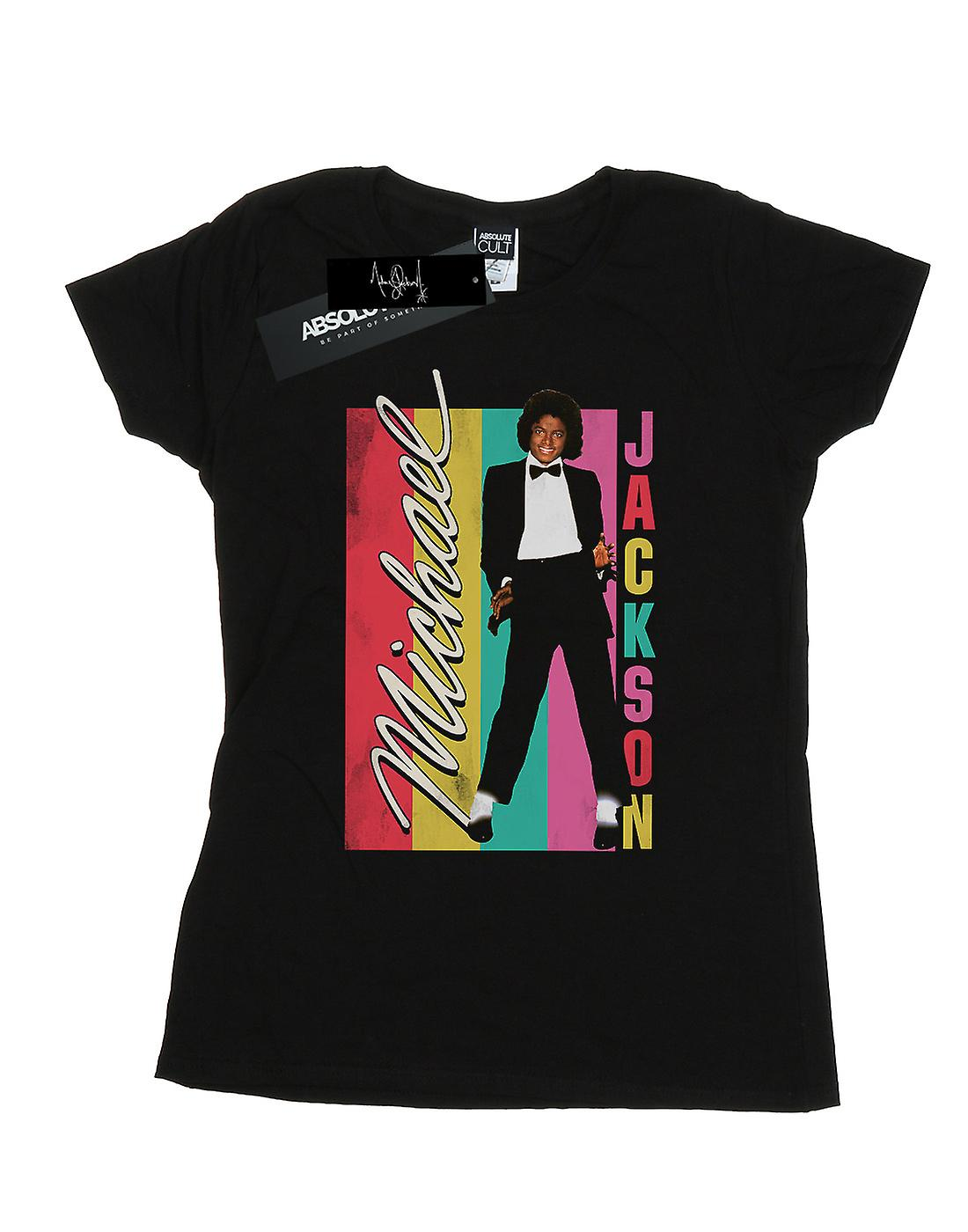 Michael Jackson Women's Colour Stripes T-Shirt