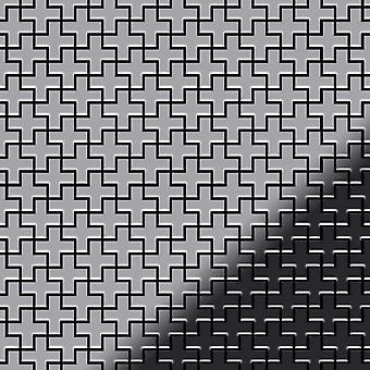 Metal mosaic Stainless Steel ALLOY Swiss-Cross-S-S-M