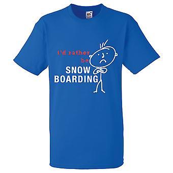 Miehet mieluummin lumi lennolle kuninkaallinen sininen t-paita