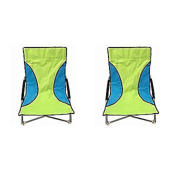 2 verde Nalu dobrar cadeiras de praia de assento baixo