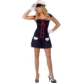 Kuuma merikapteeni aikuinen puku