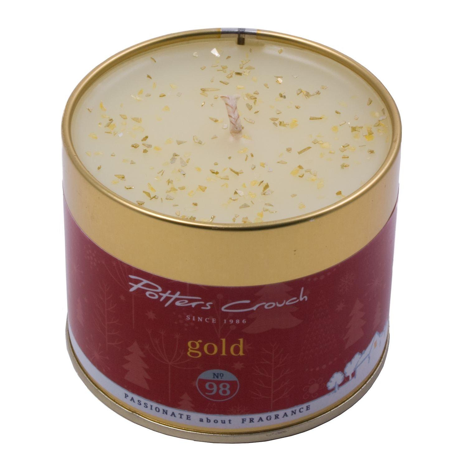 Potters Crouch Gold Scented Candle in Tin