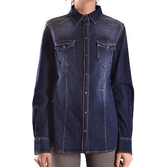 Liu Jo Ezbc086111 Women's Blue Cotton Shirt