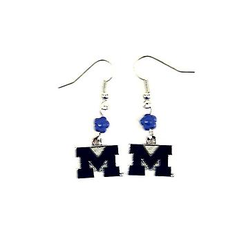 Michigan Wolverines NCAA Sophie Style Dangle Earrings
