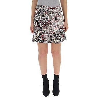 Isabel Marant Ju0893026e70rd Women's Multicolor Cotton Skirt