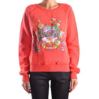 Frankie Morello Ezbc167055 Women's Red Cotton Sweatshirt