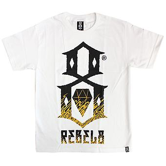 Rebel8 Up in flames T-shirt white