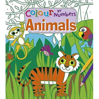 Colour by Numbers - Animals by Arcturus Publishing - 9781784285319 Book