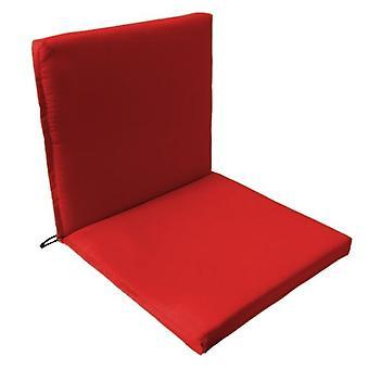 Almohadilla de asiento de silla Gardenista Garden Premium ? Cuerdas de lazos seguros y tirante elástico en la parte posterior de la espalda Resistente al agua ? Adecuado para interiores y exteriores (1 piezas, rojo)