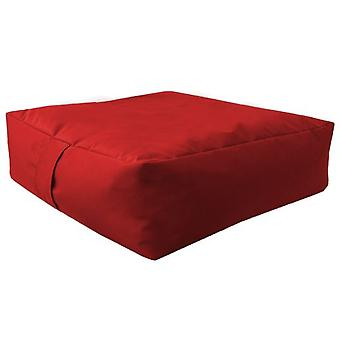 Red Water Resistant Large Bean Floor Garden Slab Cushion Stool Pouffe
