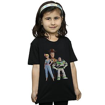 Disney Girls Toy Story 4 Woody Buzz and Bo Peep T-Shirt