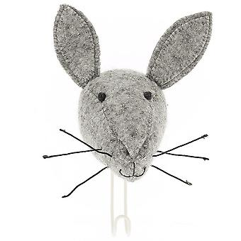 Fiona Walker England Big Felt Hare Head Coat Hook