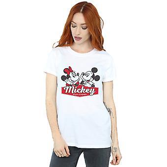 Disney Women ' s Mickie och Minnie 90 år pojkvän passar T-shirt