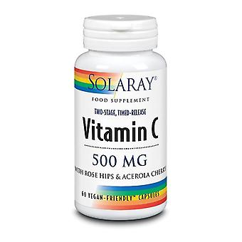 Solaray Vitamin C Two Stage Time Release 500mg Capsules 60 (1080)