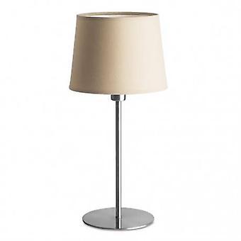 1 lámpara de mesa ligera satinado níquel
