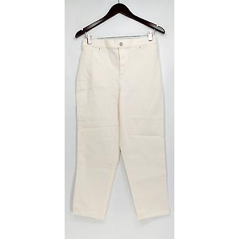 Joan Rivers Classics Collection Petite Jeans 8 Zipper Button Front White A303073