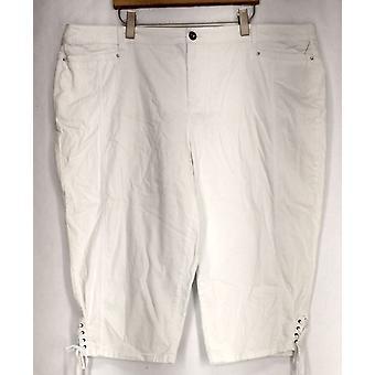 Style et Cie Plus Jeans Tummy Control Capri Jeans Femmes Blanches