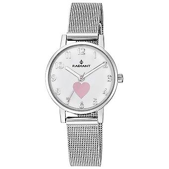 Radiant new heart & butterfly Quartz Analog Child Watch with RA450202 Stainless Steel Bracelet