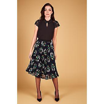 Louche Kamea Floral Pleated Skirt