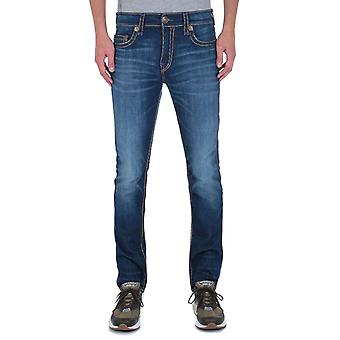 True Religion Rocco No Flap Relaxed Skinny Super T Deep Blue Denim Jeans