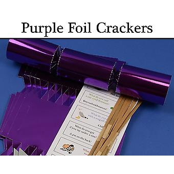 Purple Foil Make & Fill Your Own DIY Christmas Cracker Craft Kits & Boards