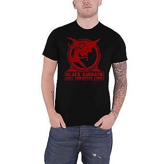 Black Sabbath T Shirt 1975 European Tour Band Logo new Official Mens Black