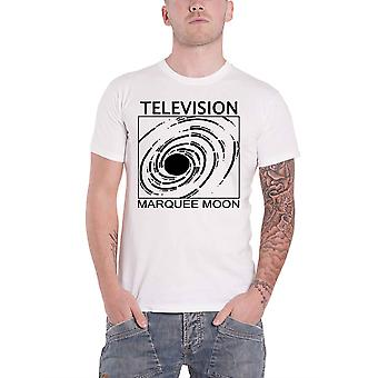Television T Shirt Marquee Moon Band Logo new Official Mens White