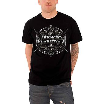 Avenged Sevenfold T Shirt death bat band logo Reflections Official Mens Black