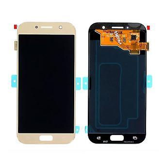 Roba certificata ® Samsung Galaxy A5 2017 Schermo A520 (Touchscreen - AMOLED - Parti) AAA - Qualità - Oro