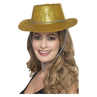 Accessoire de déguisements adultes Cowboy or paillettes Hat
