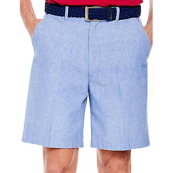 Pegasus Mens Verborgen Stretch Taille Chambray Shorts met riem