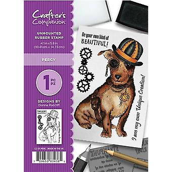 Crafter's Companion A6 Rubber Stamp - Percy