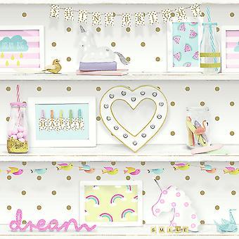 Fonds d'écran Girls Life Bookshelf Multi Arthouse 696004