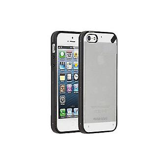 Funda PureGear Slim Shell para Apple iPhone SE/5/5S - Transparente con ribete negro