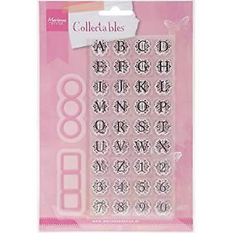 Marianne Design Vintage Alphabet Die, Pink