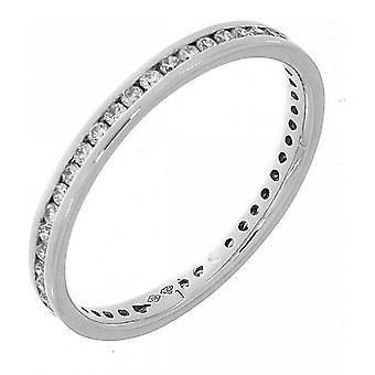 Diamantring - 18K 750/- Weissgold - 0.38 ct. Grösse 54